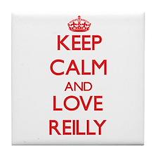 Keep calm and love Reilly Tile Coaster