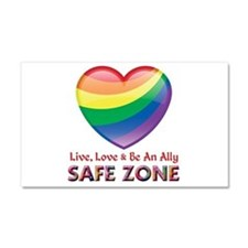 Safe Zone - Ally Car Magnet 20 x 12