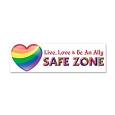 Safe Zone - Ally Car Magnet 10 x 3