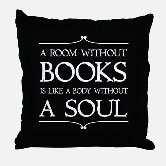 Book Quote Gift Throw Pillow