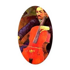 Gauguin: The Cellist, Paul Cezanne Oval Car Magnet