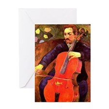 Gauguin: The Cellist, Paul Cezanne p Greeting Card