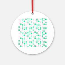 Christmas wrap Ornament (Round)