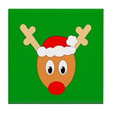 Ugly Sweater Reindeer Tile Coaster