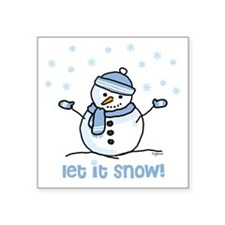 Let it snow snowman Oval Sticker