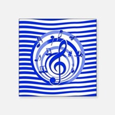 Stylish musical notes and stripes design Sticker