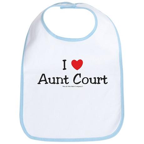I Love my Aunt Court Bib