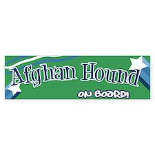 Afghan Hound on board bumper Bumper Bumper Sticker