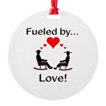 Fueled by Love Round Ornament