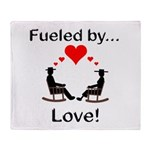 Fueled by Love Throw Blanket