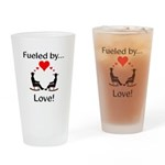 Fueled by Love Drinking Glass