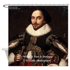 Shakespeare Past Is Prologue Shower Curtain
