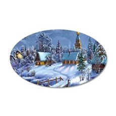 Winter Wonderland 35x21 Oval Wall Decal