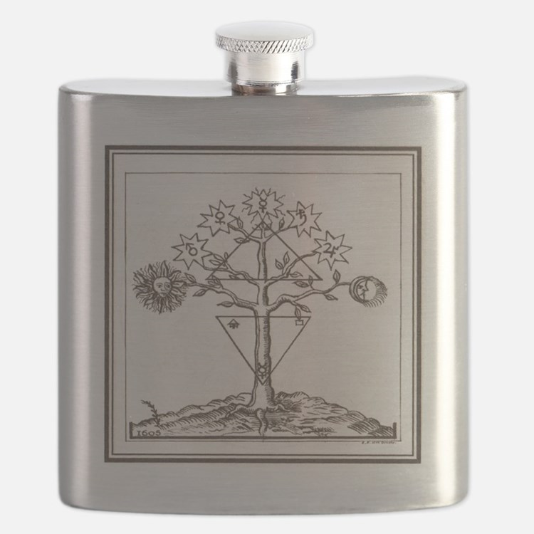 Alchemy Hermeticism Tree Ladder of the Plane Flask