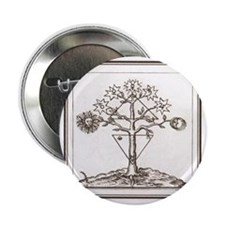 """Alchemy Hermeticism Tree Ladder of th 2.25"""" Button"""