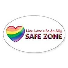 Safe Zone - Ally Bumper Stickers