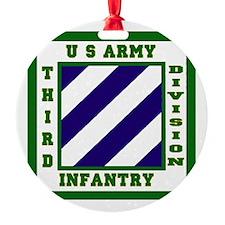 3rd ID Round Ornament
