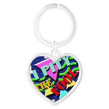 I Pity The Fool! Heart Keychain