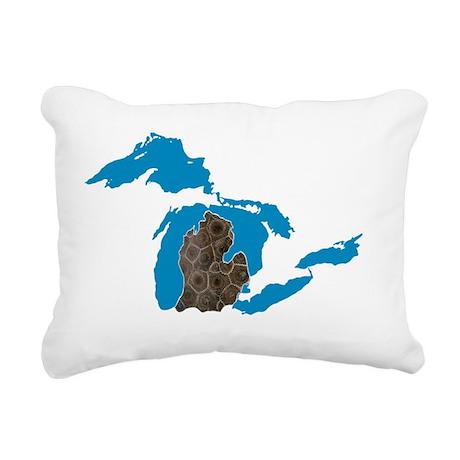 Great lakes Michigan pet Rectangular Canvas Pillow