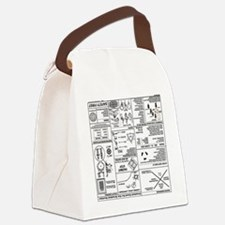 Upsidedown CERT Prompt Canvas Lunch Bag