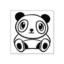 """Cute panda Square Sticker 3"""" x 3"""""""