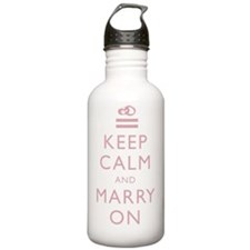 Keep Calm Marry On - P Water Bottle
