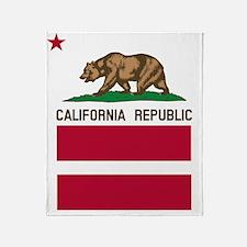 California Flag Gay Pride Equal Righ Throw Blanket