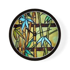 Tiffany Bamboo Panel Wall Clock