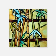 "Tiffany Bamboo Panel Square Sticker 3"" x 3"""