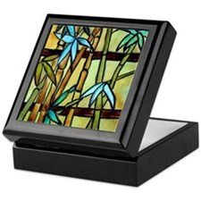 Tiffany Bamboo Panel Keepsake Box