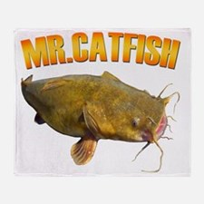 Mr Catfish Throw Blanket