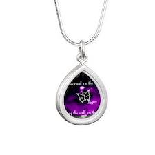 lupus eye Silver Teardrop Necklace