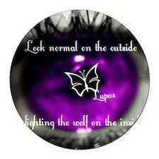 lupus eye Round Car Magnet