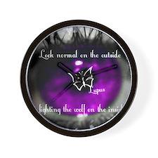 lupus eye Wall Clock