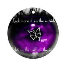 lupus eye Round Ornament