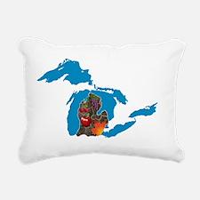 Great Lakes Michigan Har Rectangular Canvas Pillow