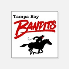 "Tampa Bay Bandits Retro Log Square Sticker 3"" x 3"""