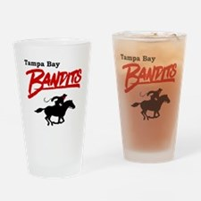 Tampa Bay Bandits Retro Logo Drinking Glass