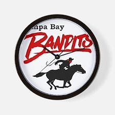 Tampa Bay Bandits Retro Logo Wall Clock