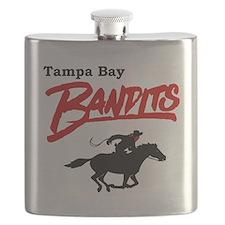 Tampa Bay Bandits Retro Logo Flask