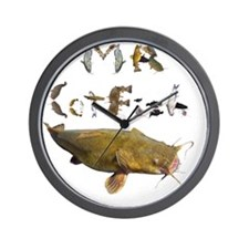 Mr Catfish font Wall Clock