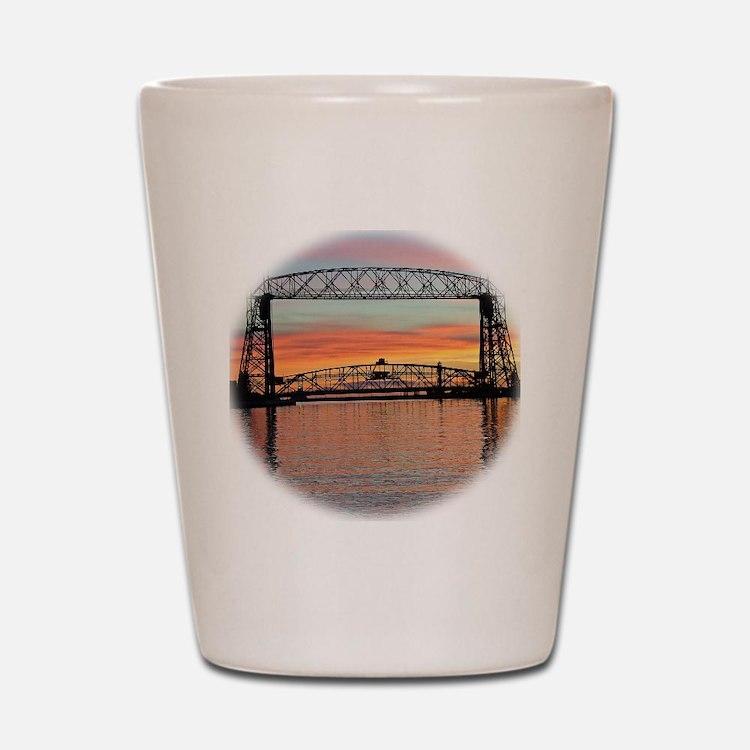 Sunrise under the Bridge Shot Glass