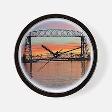 Sunrise under the Bridge Wall Clock