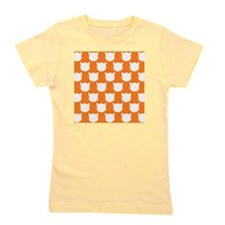 shower cats orange Girl's Tee