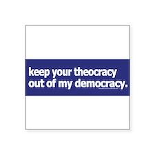 keepyourtheocracy1blue Sticker