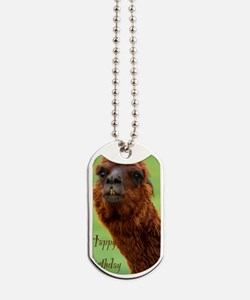 funny alpaca birthday Dog Tags