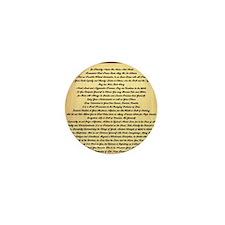 Desiderata on Woodgrain Mini Button