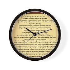 Desiderata on Woodgrain Wall Clock