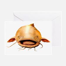 Smiling Flathead catfish Greeting Card