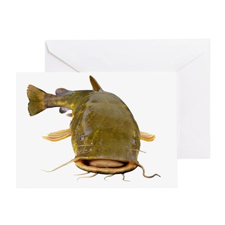 Fat Flathead catfish Greeting Card